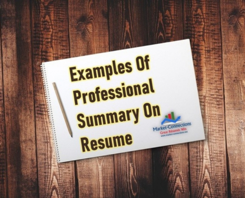 Examples Of Professional Resume Summary